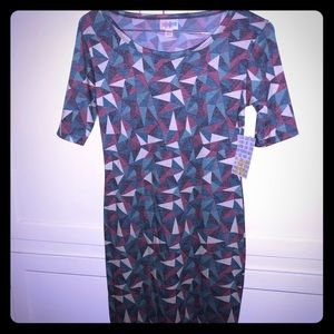 NEW Lularoe XXS Julia dress with geometric pattern